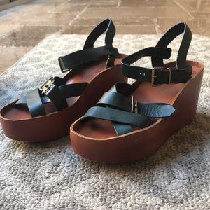 Chloe sandal platform/wedge